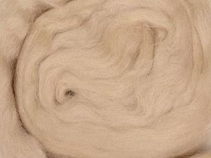 50gr-1.8m (1.76oz-1.97yards) 100% Wool felt Fiber Content 100% Wool, Yarn Thickness Other, Brand ICE, Beige, acs-933