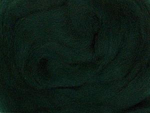 50gr-1.8m (1.76oz-1.97yards) 100% Wool felt Fiber Content 100% Wool, Yarn Thickness Other, Brand ICE, Dark Green, acs-935