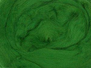 50gr-1.8m (1.76oz-1.97yards) 100% Wool felt Fiber Content 100% Wool, Yarn Thickness Other, Brand ICE, Grass Green, acs-937