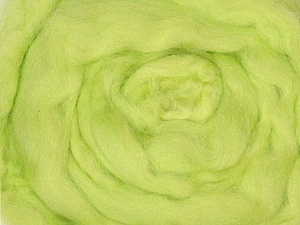 50gr-1.8m (1.76oz-1.97yards) 100% Wool felt Fiber Content 100% Wool, Yarn Thickness Other, Brand ICE, Baby Green, acs-940