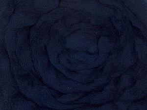 50gr-1.8m (1.76oz-1.97yards) 100% Wool felt Fiber Content 100% Wool, Yarn Thickness Other, Brand ICE, Dark Navy, acs-945