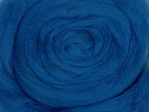 50gr-1.8m (1.76oz-1.97yards) 100% Wool felt Fiber Content 100% Wool, Yarn Thickness Other, Brand ICE, Blue, acs-947