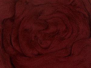 50gr-1.8m (1.76oz-1.97yards) 100% Wool felt Fiber Content 100% Wool, Yarn Thickness Other, Brand ICE, Burgundy, acs-952