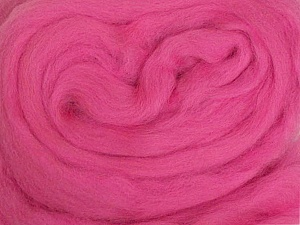 50gr-1.8m (1.76oz-1.97yards) 100% Wool felt Fiber Content 100% Wool, Yarn Thickness Other, Brand ICE, Candy Pink, acs-971