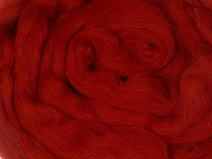50gr-1.8m (1.76oz-1.97yards) 100% Wool felt Fiber Content 100% Wool, Brand Ice Yarns, Dark Red, acs-1107