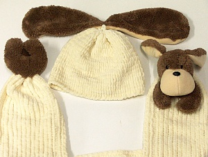 Made from Chenille yarn. Brand ICE, Cream, Brown, acs-1250
