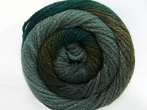Fiber Content 90% Acrylic, 10% Polyamide, Brand ICE, Grey, Green Shades, Yarn Thickness 4 Medium  Worsted, Afghan, Aran, fnt2-49657