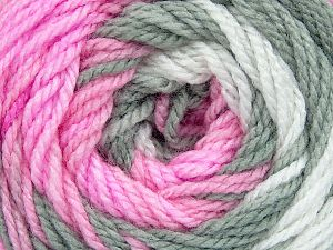 . Fiber Content 100% Baby Acrylic, White, Pink, Brand ICE, Grey, Yarn Thickness 2 Fine  Sport, Baby, fnt2-50002
