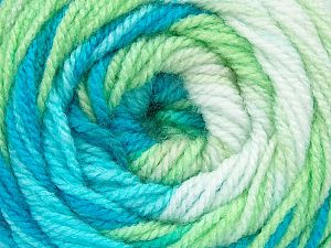 . Fiber Content 100% Baby Acrylic, White, Brand ICE, Green, Blue Shades, Yarn Thickness 2 Fine  Sport, Baby, fnt2-50005