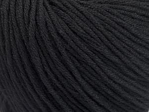 Fiber Content 60% Bamboo, 40% Cotton, Brand ICE, Black, Yarn Thickness 3 Light  DK, Light, Worsted, fnt2-50532
