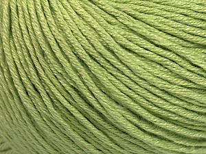Fiber Content 60% Bamboo, 40% Cotton, Light Green, Brand ICE, Yarn Thickness 3 Light  DK, Light, Worsted, fnt2-50543