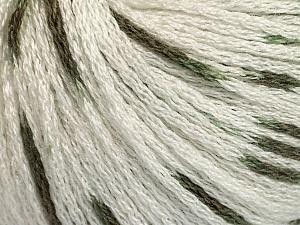 Fiber Content 100% Acrylic, White, Khaki, Brand ICE, Yarn Thickness 3 Light  DK, Light, Worsted, fnt2-50801