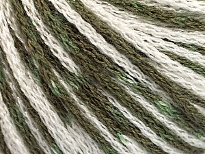 Fiber Content 100% Acrylic, White, Khaki, Brand ICE, Yarn Thickness 3 Light  DK, Light, Worsted, fnt2-50810
