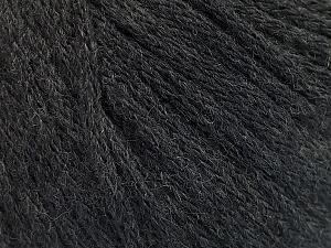 Fiber Content 50% Acrylic, 50% Wool, Brand ICE, Anthracite Black, Yarn Thickness 4 Medium  Worsted, Afghan, Aran, fnt2-51392