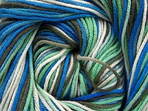 Fiber Content 100% Cotton, White, Mint Green, Khaki, Brand ICE, Blue, Yarn Thickness 2 Fine  Sport, Baby, fnt2-51437