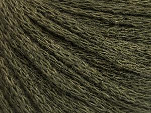 Fiber Content 50% Acrylic, 50% Wool, Khaki, Brand ICE, Yarn Thickness 4 Medium  Worsted, Afghan, Aran, fnt2-51475
