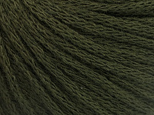 Fiber Content 50% Wool, 50% Acrylic, Brand ICE, Dark Green, Yarn Thickness 4 Medium  Worsted, Afghan, Aran, fnt2-51476