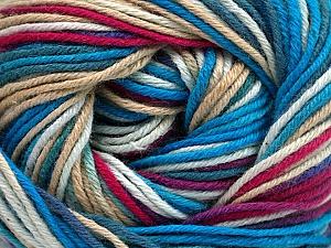 Fiber Content 100% Cotton, White, Turquoise Shades, Brand ICE, Fuchsia, Cream, Yarn Thickness 2 Fine  Sport, Baby, fnt2-51519