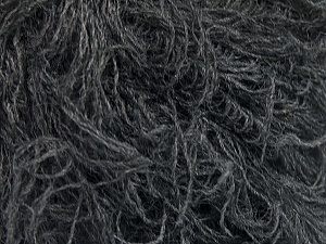 Fiber Content 6% Polyamide, 46% Acrylic, 29% Wool, 19% Viscose, Brand ICE, Dark Grey, fnt2-51641