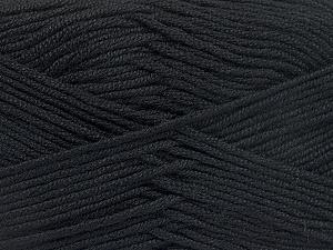 Fiber Content 50% Acrylic, 50% Bamboo, Brand ICE, Black, Yarn Thickness 2 Fine  Sport, Baby, fnt2-51647