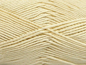 Fiber Content 50% Acrylic, 50% Bamboo, Brand ICE, Cream, Yarn Thickness 2 Fine  Sport, Baby, fnt2-51651