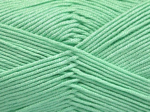 Fiber Content 50% Acrylic, 50% Bamboo, Mint Green, Brand ICE, Yarn Thickness 2 Fine  Sport, Baby, fnt2-51655