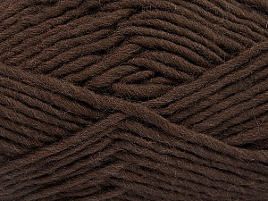 Fiber Content 100% Wool, Brand ICE, Dark Brown, Yarn Thickness 5 Bulky  Chunky, Craft, Rug, fnt2-51914