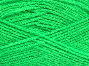 Fiber Content 100% Acrylic, Neon Green, Brand ICE, Yarn Thickness 3 Light  DK, Light, Worsted, fnt2-52071