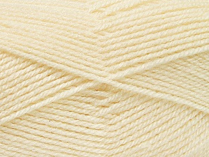 Fiber Content 100% Acrylic, Brand ICE, Cream, Yarn Thickness 3 Light  DK, Light, Worsted, fnt2-52078
