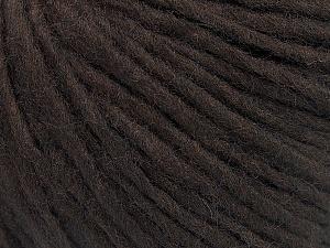 Fiber Content 50% Acrylic, 50% Wool, Brand ICE, Coffee Brown, Yarn Thickness 5 Bulky  Chunky, Craft, Rug, fnt2-52175