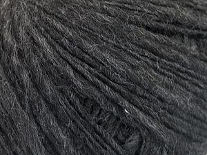 Fiber Content 65% Acrylic, 15% Alpaca, 10% Wool, 10% Viscose, Brand ICE, Anthracite Black, fnt2-52187