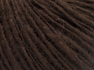 Fiber Content 65% Acrylic, 15% Alpaca, 10% Viscose, 10% Wool, Brand ICE, Dark Brown, fnt2-52189