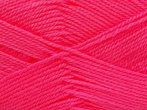 Fiber Content 100% Acrylic, Neon Pink, Brand ICE, Yarn Thickness 2 Fine  Sport, Baby, fnt2-52242