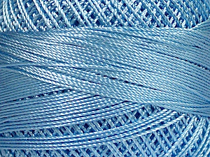 Fiber Content 100% Micro Fiber, Brand YarnArt, Light Blue, Yarn Thickness 0 Lace  Fingering Crochet Thread, fnt2-52268