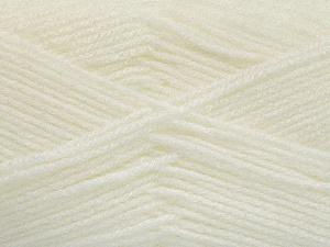 Fiber Content 100% Baby Acrylic, White, Brand Ice Yarns, Yarn Thickness 2 Fine  Sport, Baby, fnt2-52347