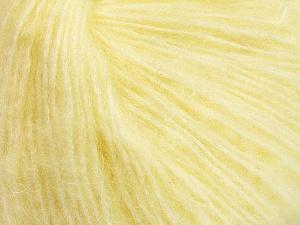 Fiber Content 34% Acrylic, 26% Polyamide, 25% Alpaca, 15% Superwash Merino Wool, Light Yellow, Brand ICE, Yarn Thickness 3 Light  DK, Light, Worsted, fnt2-52383