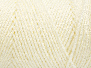 Items made with this yarn are machine washable & dryable. Fiber Content 100% Dralon Acrylic, Light Cream, Brand ICE, Yarn Thickness 4 Medium  Worsted, Afghan, Aran, fnt2-52400