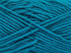 Fiber Content 100% Wool, Teal, Brand ICE, Yarn Thickness 5 Bulky  Chunky, Craft, Rug, fnt2-52401