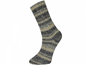 Fiber Content 75% Superwash Wool, 25% Polyamide, Brand ICE, Grey Shades, Cream, Yarn Thickness 1 SuperFine  Sock, Fingering, Baby, fnt2-52567
