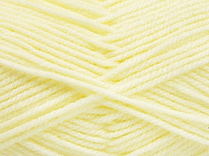 Worsted  Fiber Content 100% Acrylic, Lemon Yellow, Brand ICE, Yarn Thickness 4 Medium  Worsted, Afghan, Aran, fnt2-52729