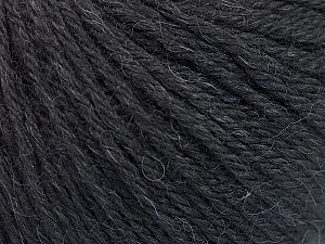Fiber Content 55% Baby Alpaca, 45% Superwash Extrafine Merino Wool, Brand ICE, Black, Yarn Thickness 3 Light  DK, Light, Worsted, fnt2-52760