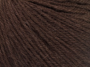 Fiber Content 55% Baby Alpaca, 45% Superwash Extrafine Merino Wool, Brand ICE, Dark Brown, Yarn Thickness 3 Light  DK, Light, Worsted, fnt2-52761