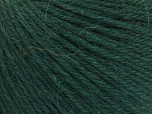 Fiber Content 55% Baby Alpaca, 45% Superwash Extrafine Merino Wool, Brand ICE, Dark Green, Yarn Thickness 3 Light  DK, Light, Worsted, fnt2-52764