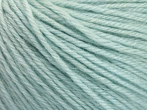 Fiber Content 55% Baby Alpaca, 45% Superwash Extrafine Merino Wool, Mint Green, Brand ICE, Yarn Thickness 3 Light  DK, Light, Worsted, fnt2-52765