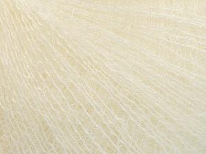 Fiber Content 52% SuperKid Mohair, 35% Polyamide, 13% Superwash Extrafine Merino Wool, Brand ICE, Cream, Yarn Thickness 1 SuperFine  Sock, Fingering, Baby, fnt2-52947