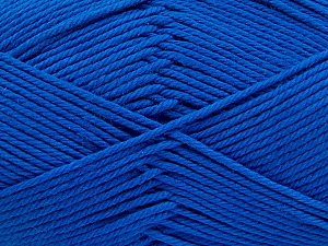 Baby cotton is a 100% premium giza cotton yarn exclusively made as a baby yarn. It is anti-bacterial and machine washable! Fiber Content 100% Giza Cotton, Royal Blue, Brand ICE, Yarn Thickness 3 Light  DK, Light, Worsted, fnt2-53066
