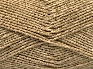 Fiber Content 50% Acrylic, 50% Bamboo, Brand ICE, Cafe Latte, Yarn Thickness 2 Fine  Sport, Baby, fnt2-53090