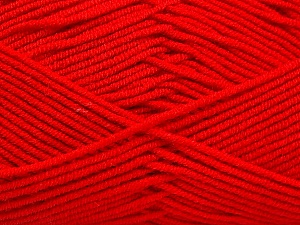 Fiber Content 50% Bamboo, 50% Acrylic, Red, Brand ICE, Yarn Thickness 2 Fine  Sport, Baby, fnt2-53092