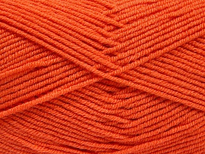 Fiber Content 50% Bamboo, 50% Acrylic, Brand ICE, Dark Orange, Yarn Thickness 2 Fine  Sport, Baby, fnt2-53094