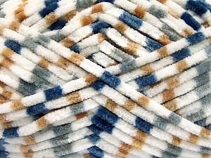 Fiber Content 100% Micro Fiber, White, Brand ICE, Grey, Camel, Blue, Yarn Thickness 4 Medium  Worsted, Afghan, Aran, fnt2-53113